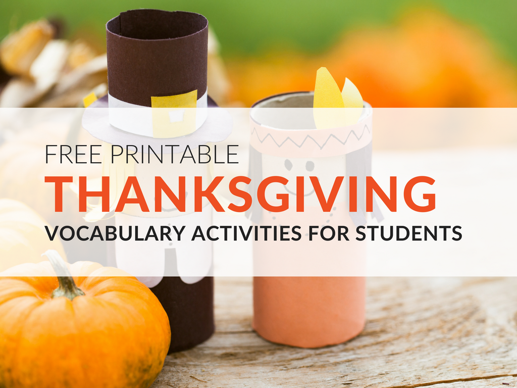 Celebrate The Thanksgiving Season In The Classroom With