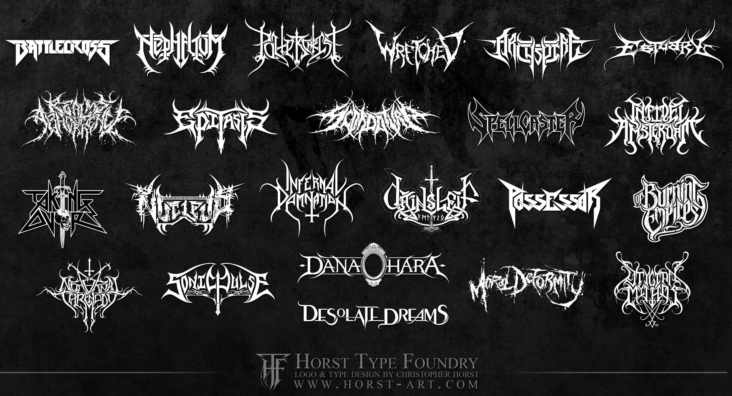 heavy metal logos metal band logos metals and logos