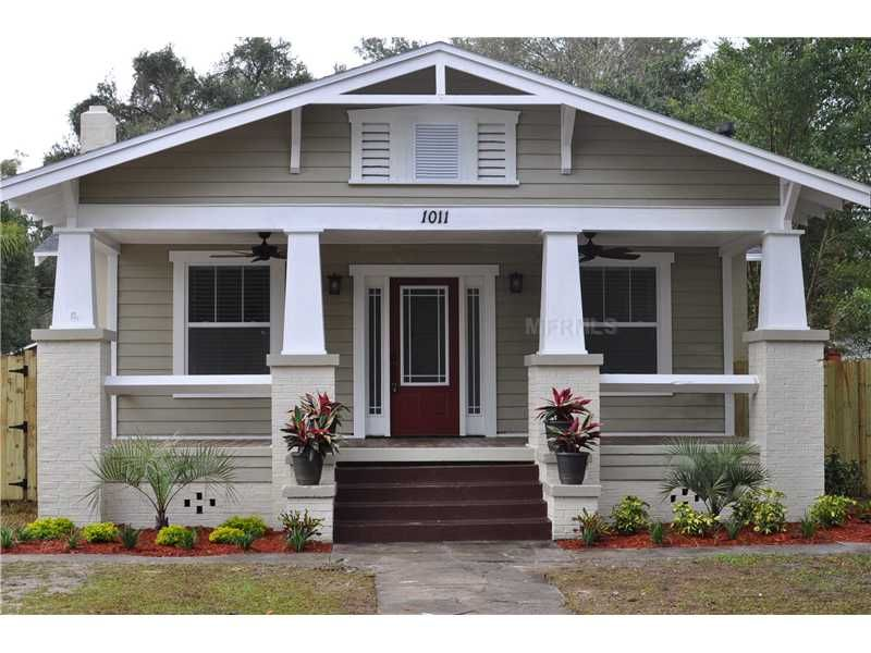 Great 1920 S House In Seminole Heights Craftsman Bungalow Exterior Bungalow Exterior Craftsman Bungalows