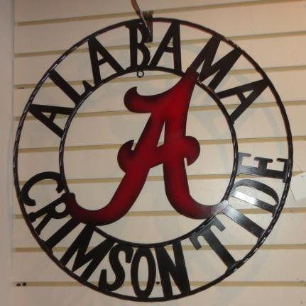 Amazon Com 24 Alabama Crimson Tide Wall Art Metal Art Wall Decor Prints Posters Prints Crimson Tide Alabama Roll Tide Alabama Decor