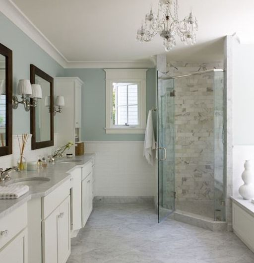 Crown Molding Painted In Benjamin Moore's White Dove OC17