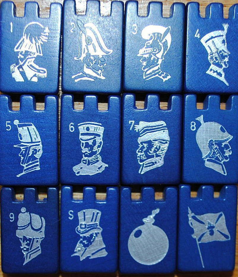Stratego Vintage CHOOSE 1 Wooden wood BLUE RED Replacement Game Piece Spy Flag