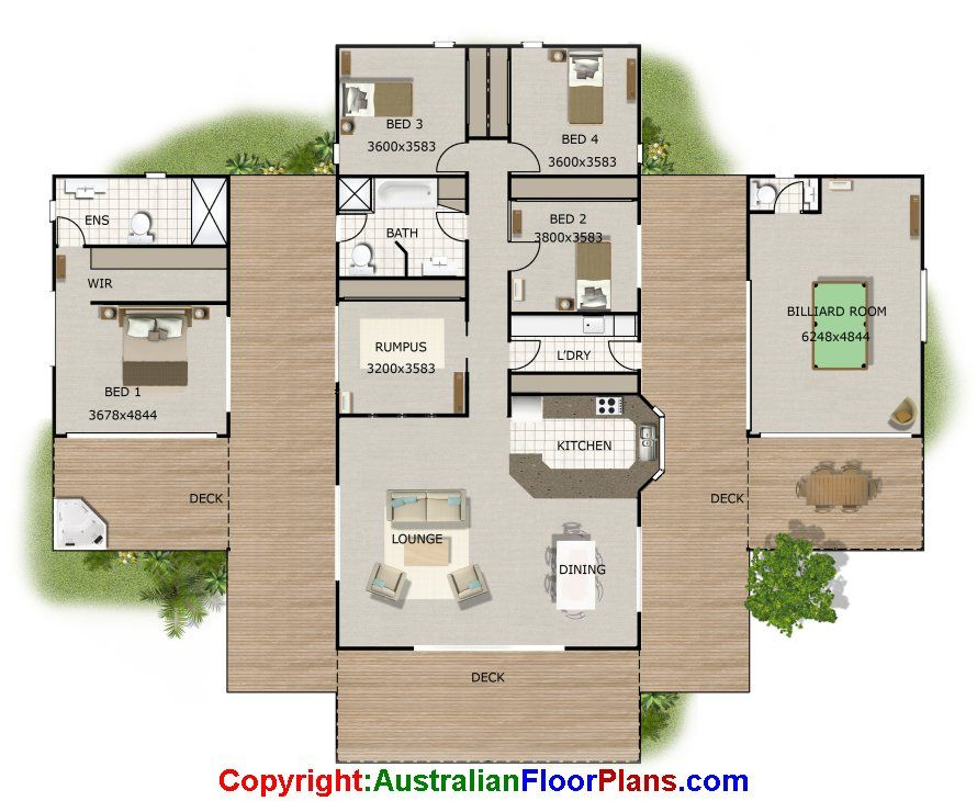 Sloping land house floor plan with granny flat option my for Floor plans granny flats