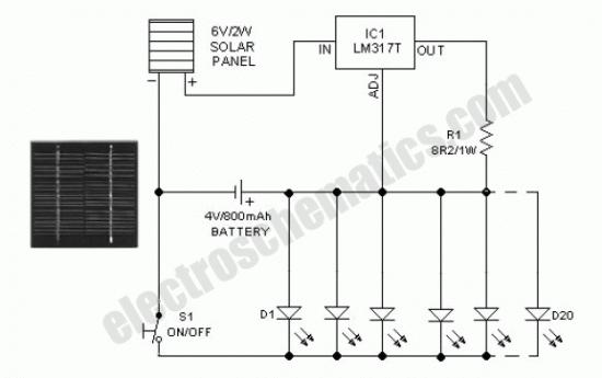 circuito de ilumina u00e7 u00e3o por energia solar