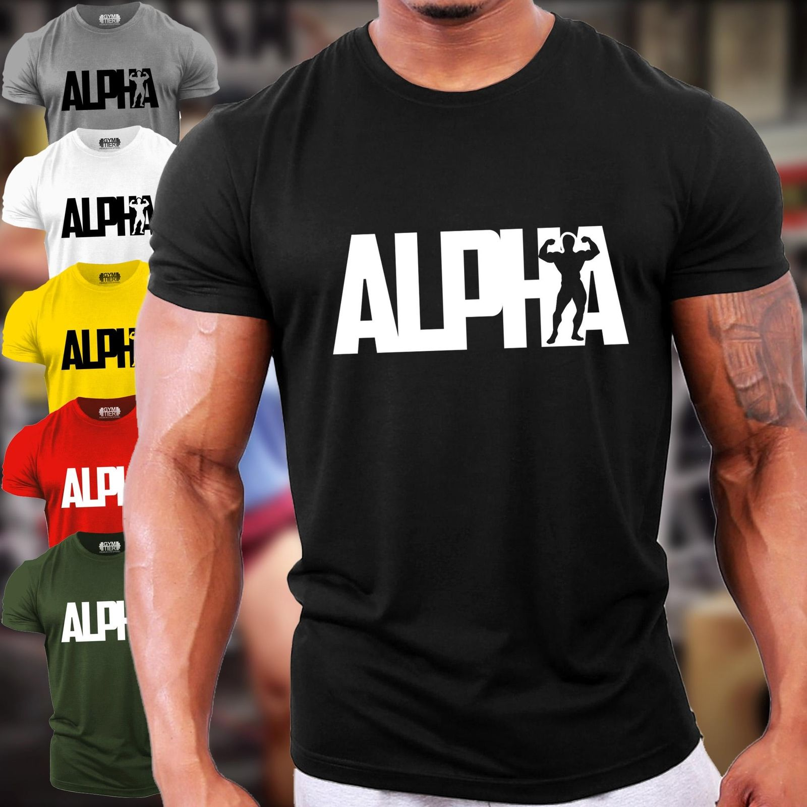 Motivational Shirts with Sayings Alpha tshirt Bodybuilding Weight lifting Graphic tee Gym Fitness Mens workout shirt Mens t shirt
