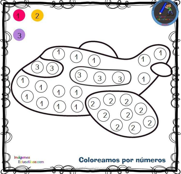 Fichas Para Colorear Por Letras Numeros Y Simbolos Fichas