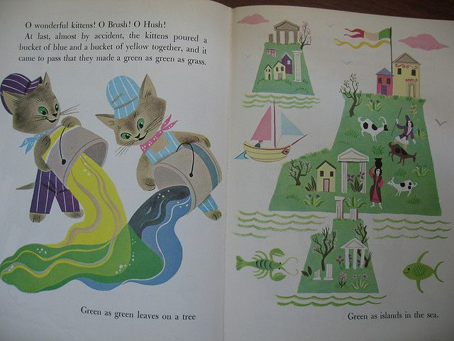 The Color Kittens Margaret Wise Brown Coloring Books Childrens Art