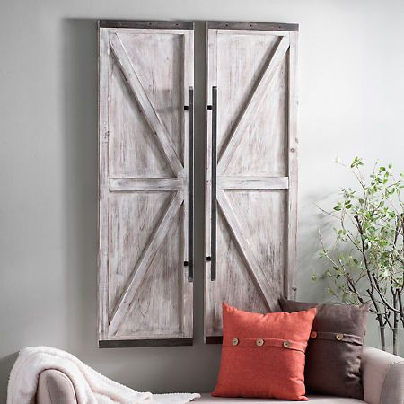 Wooden Faux Barn Door Plaque Kirklands Wood Doors Interior Barn Door Decor Wooden Doors
