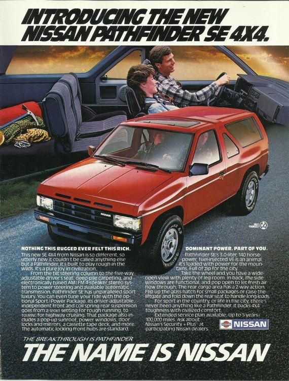 Ford Aerostar Original 1987 Vintage Color Print Ad Mini Van Nissan Pathfinder Nissan Terrano Ford Aerostar