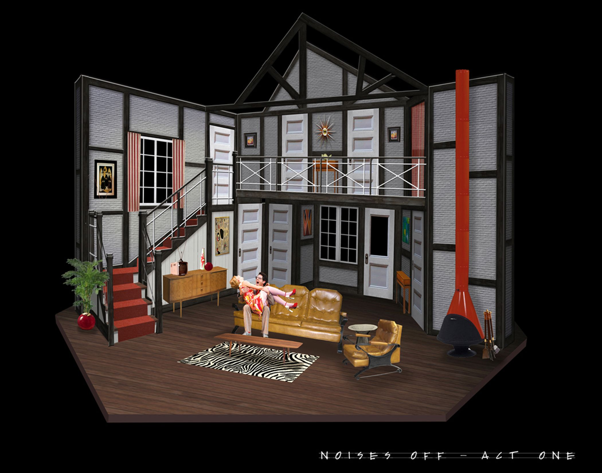 Noises Offu201d Scenic Design | Clarence Brown Theatre