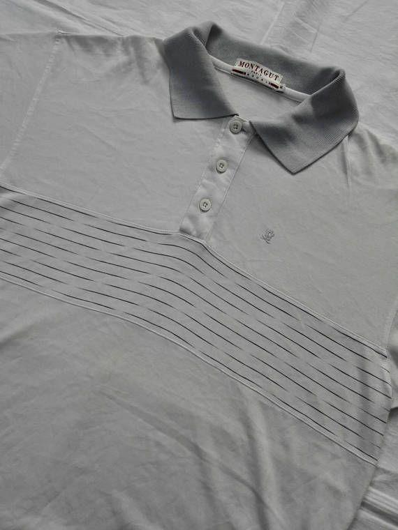 3f5162ac Rare!!! Vintage 90s Montagut Paris Casual Polo Shirt Size Medium ...