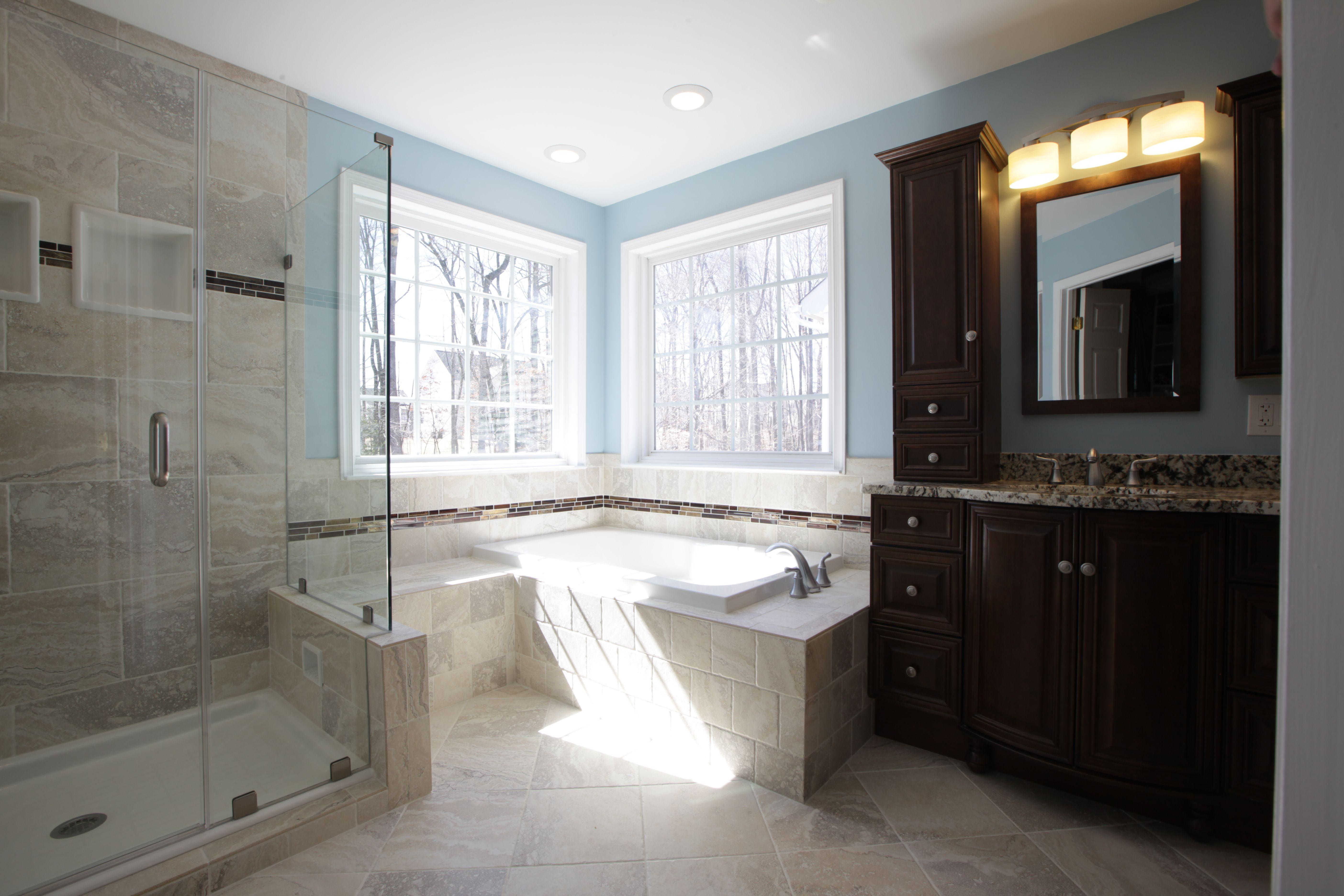 Outstanding Master Bath Aker 36X60 Deep Soaking Tub Custom Tile Skirt Complete Home Design Collection Papxelindsey Bellcom