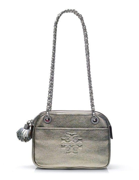 Tory Burch | Thea Metallic Crossbody #maloufs www.maloufs.com