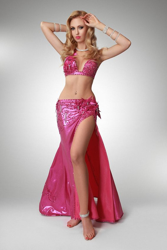 ab1a1da9d Pink belly dance costume with flovers