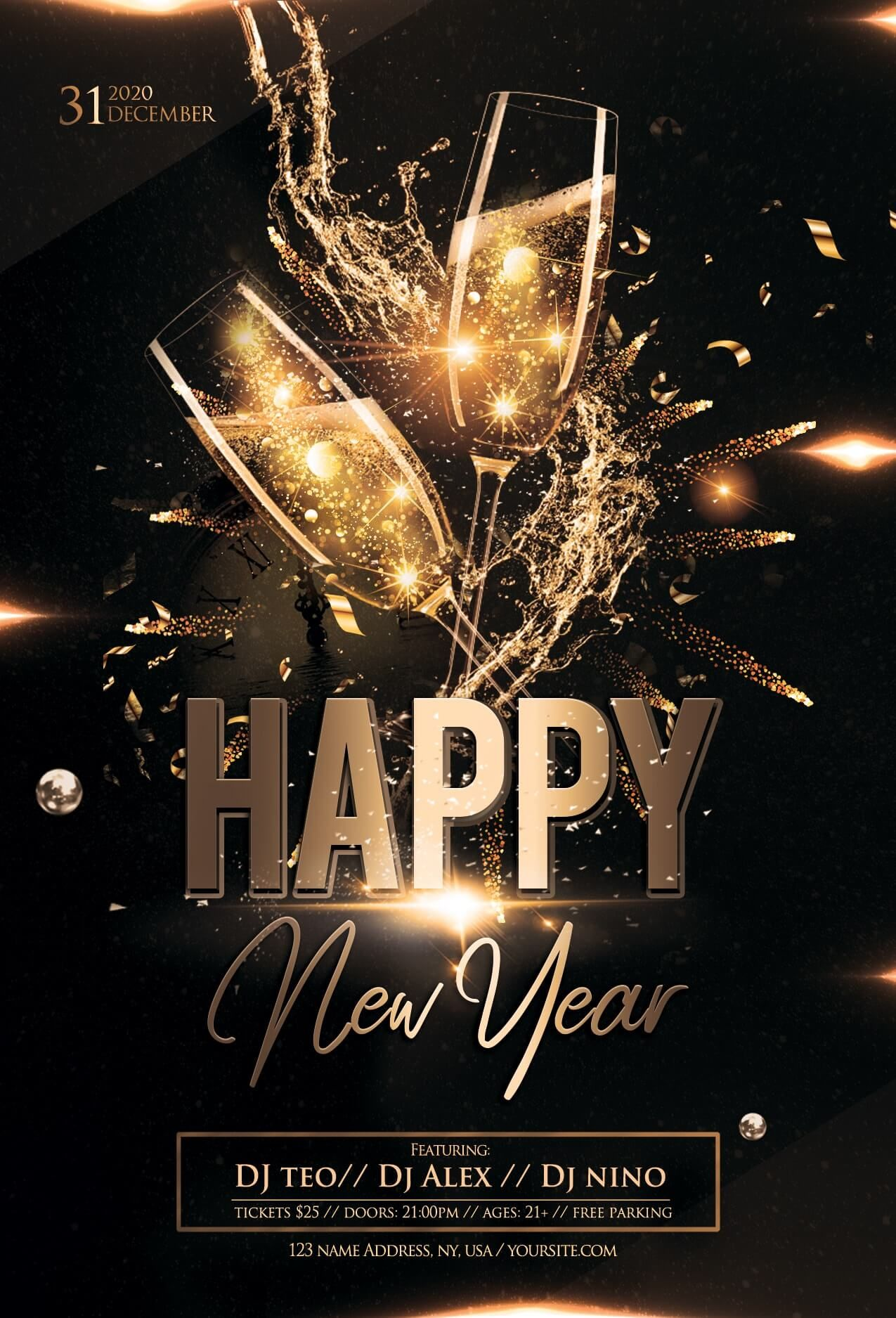018 Ddianux Min Free New Years Eve Flyer Template Psd In Free New Years Eve Flyer Template New Year S Eve Flyer Happy New Year Pictures New Year Wishes Images