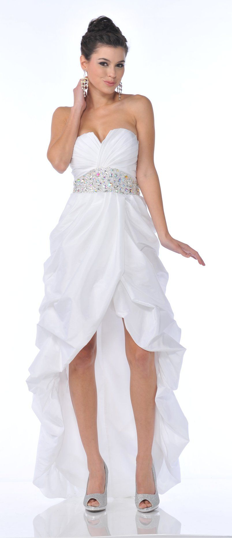 5a135d68fe52 Strapless White Prom Gown - raveitsafe