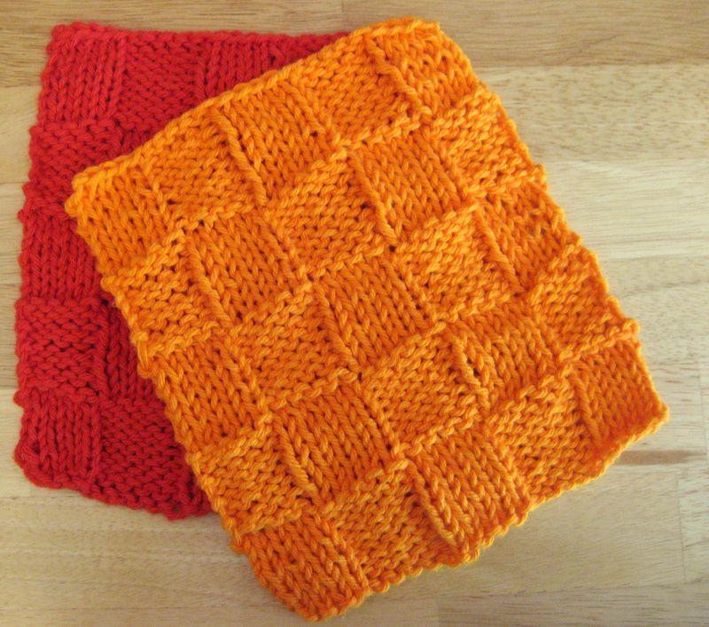 Basket Weave Scrubber Knitting Pinterest Dishcloth Project