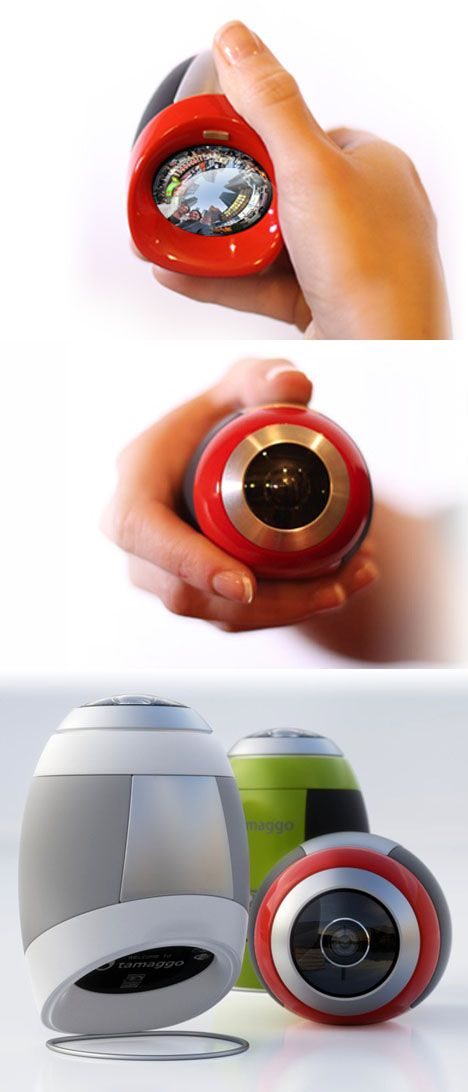 """This egg-shaped device is the Tamaggo, a """"360-imager"""" (basically a digital camera with a wraparound lens) due to hit store shelves later this year."""