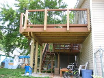 Image result for tri level house exterior deck | Stairs & Railing ...