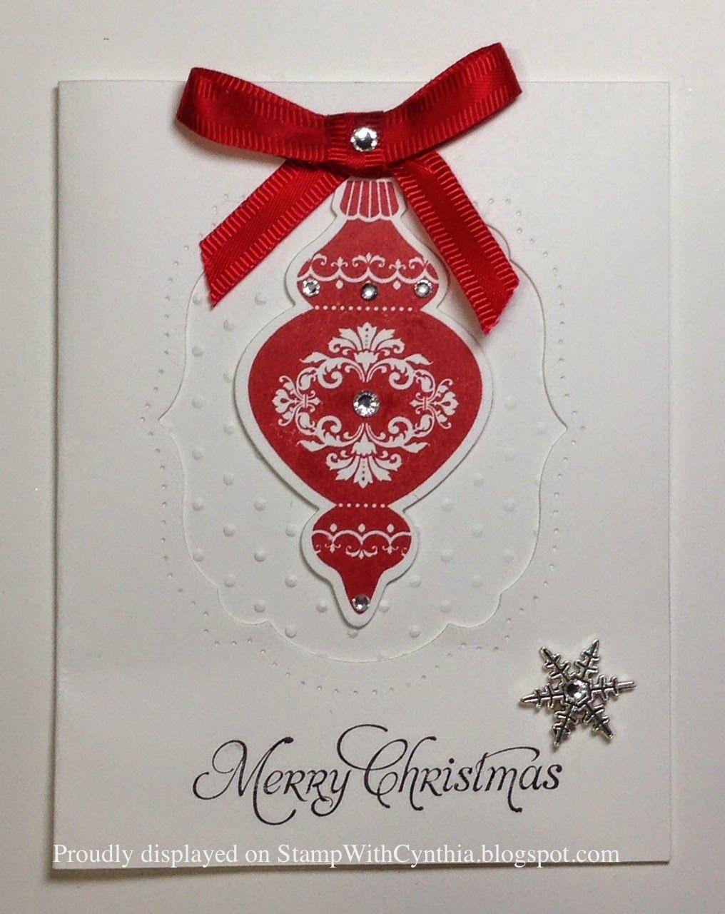 Handmade Christmas Card Ornamental Keepsakes Greetings Of The