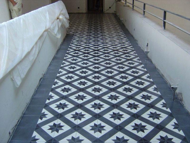 Dalle Vinyle Imitation Carreaux De Ciment Gallery Of