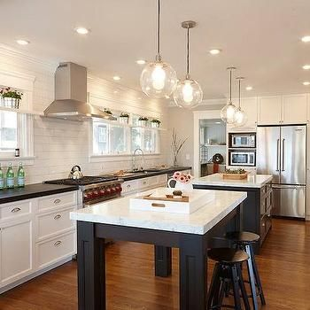 Double Kitchen Islands, Transitional, kitchen, Nerland Building and