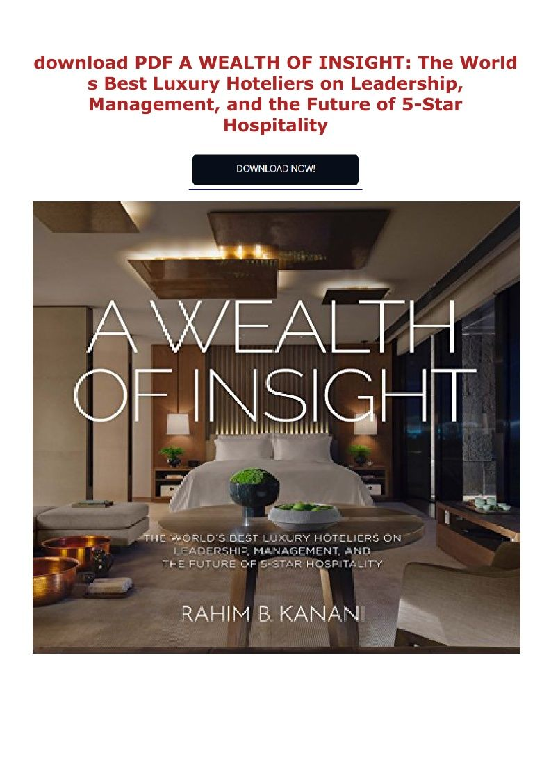 Download Pdf A Wealth Of Insight The World S Best Luxury
