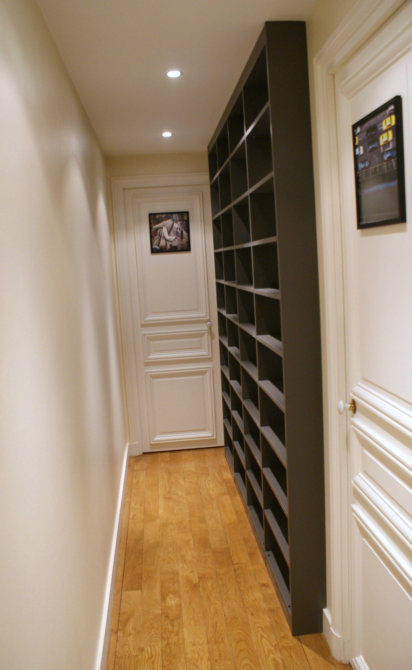 Bibliotheque Couloir Faible Profondeur Amenagement Meuble Couloir Couloirs Etroits