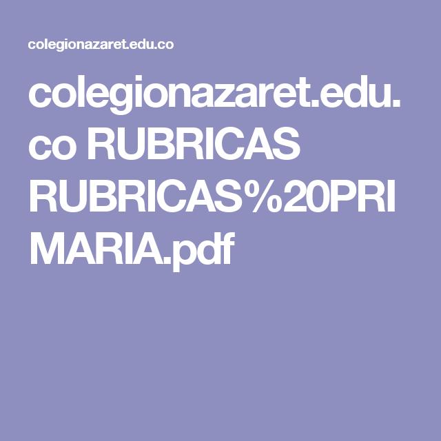 colegionazaret.edu.co RUBRICAS RUBRICAS%20PRIMARIA.pdf
