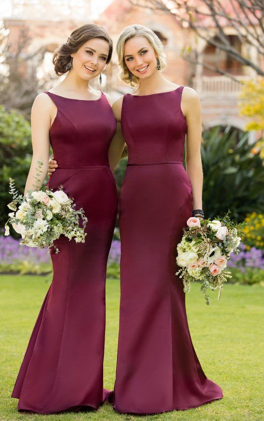cd82b2155b9 8918 Classic Satin Bridesmaid Dress by Sorella Vita