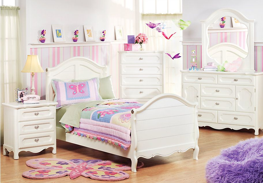 Girls Twin Bedroom Set At Rooms To Go For Kids Girls Bedroom Sets Bedroom Sets Bedroom Furniture Stores