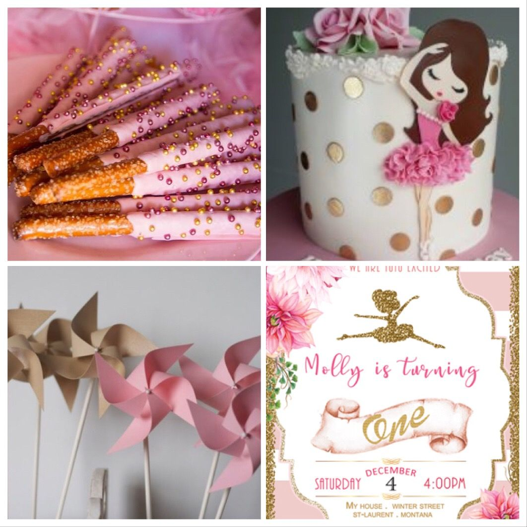 Ballerina birthday party inspiration. Ballerina decoration, invite ...