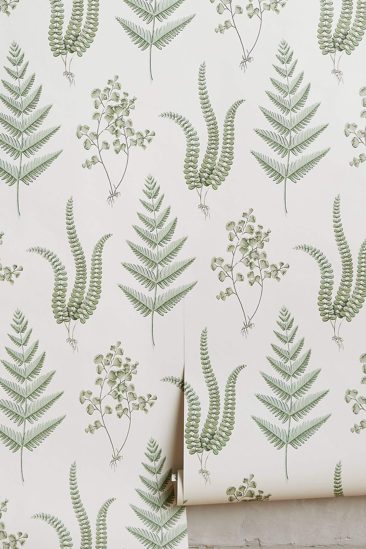Herbal Wallpaper by Boråstapeter in Green, Wall Decor at