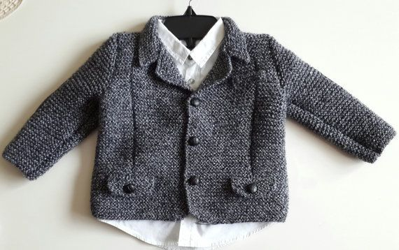 boy jacket/knitting jacket/elbow patches/black buttons/leather elbow/leather/boys/birthdayevening/outfit