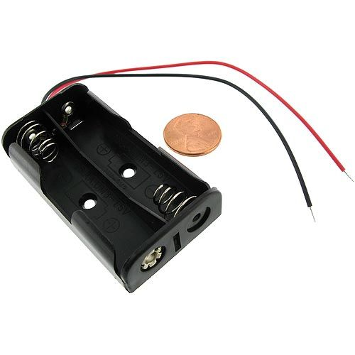 2 X Aa Battery Holder With Leads 3v Battery Holder Battery Science Fair Projects