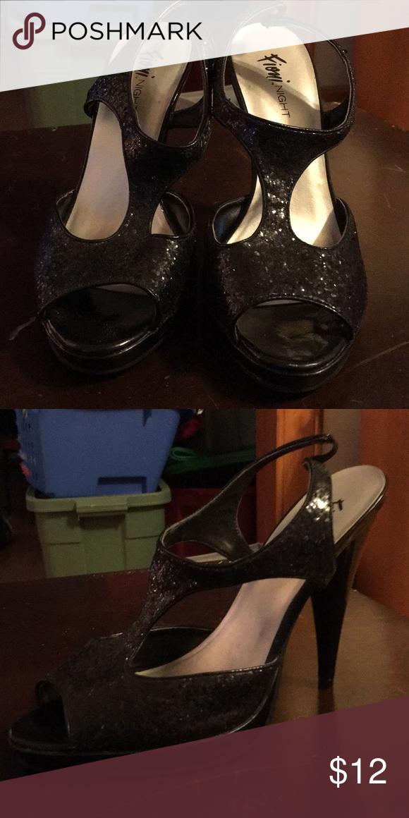 15708a3f369 Fioni Night Platform Glitter Heels Worn many times but in good ...