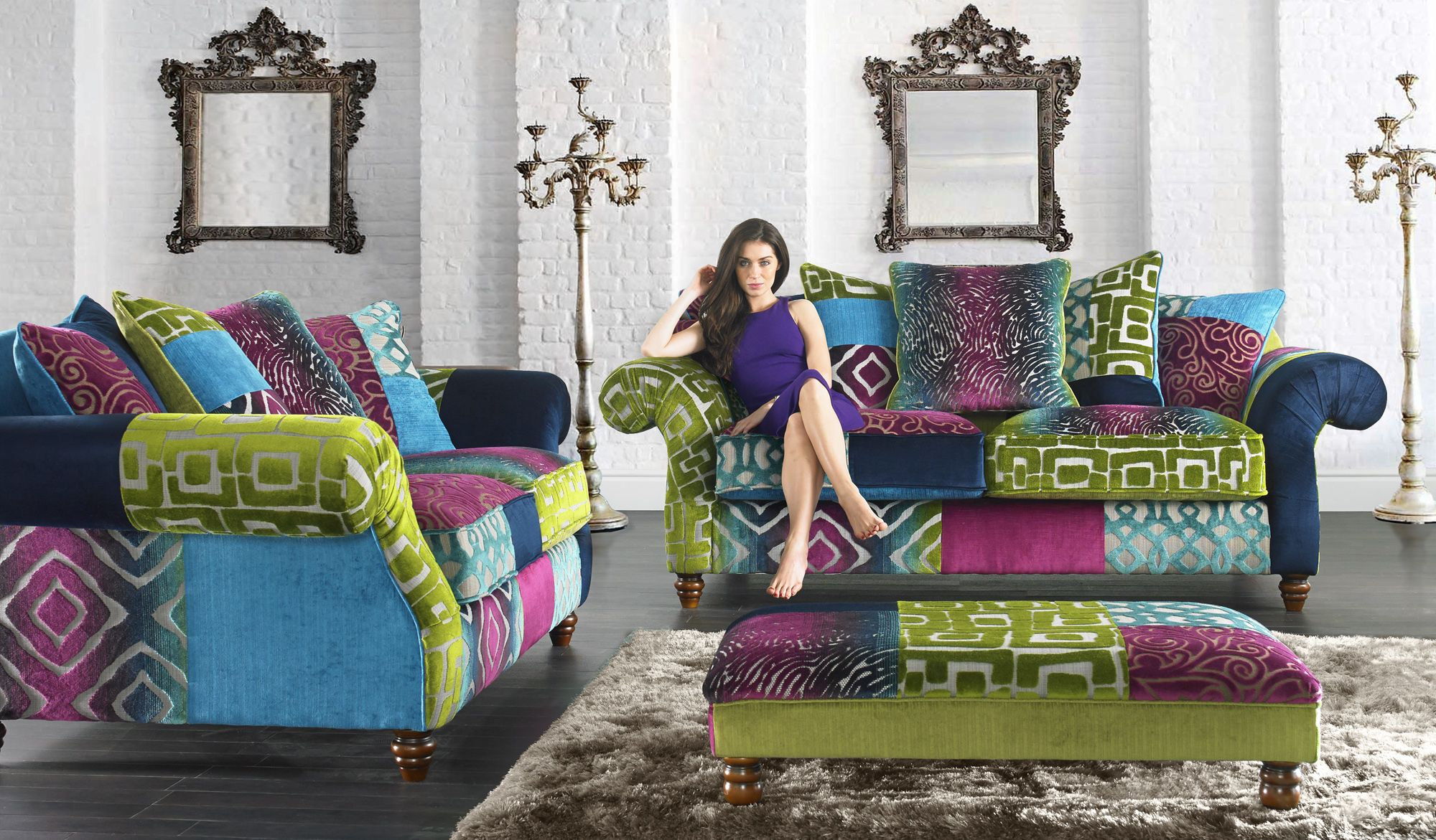 Check out the Sensation sofa from Sofaworks! Fabric sofa