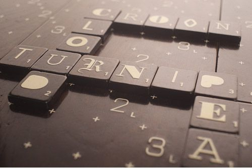 scrabble typography limited edition