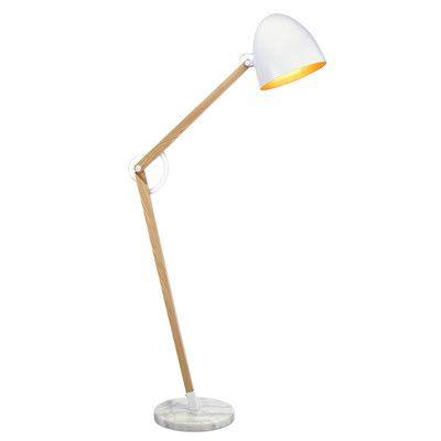 "VERSANORA Bastone 68.7"" Task Floor Lamp Shade Color: White"