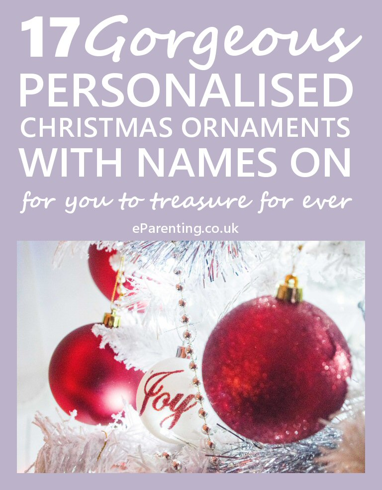 Any Name Or Mam And Dad Even Pets Names personalised xmas bauble