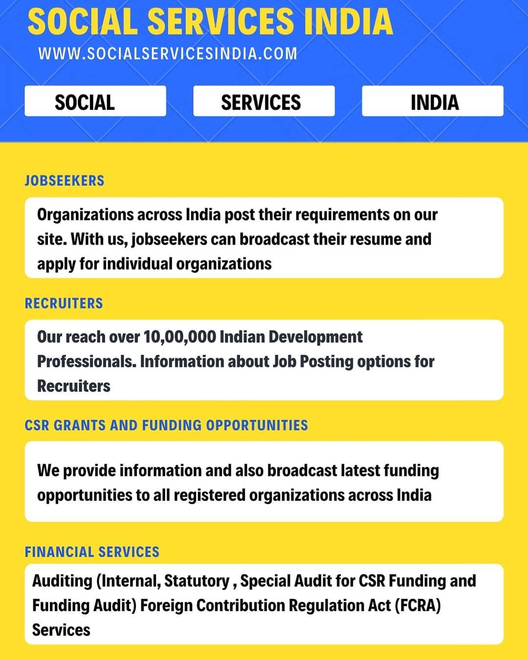 Connecting all NGO's Voluntary Organization NPO's