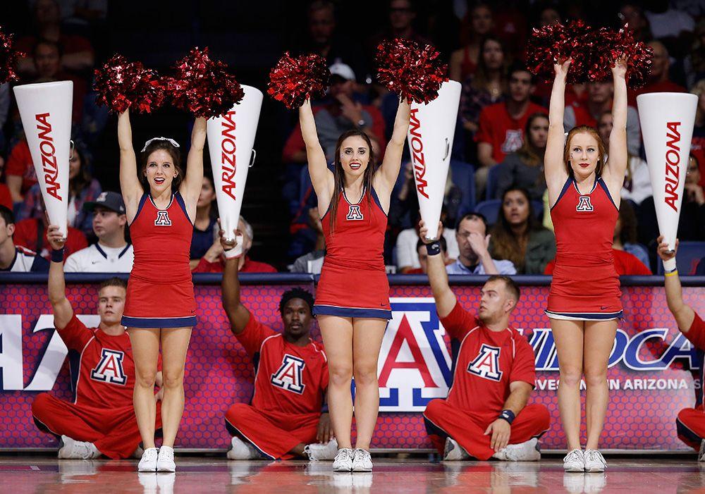 College basketball cheerleaders 201415 cheerleading