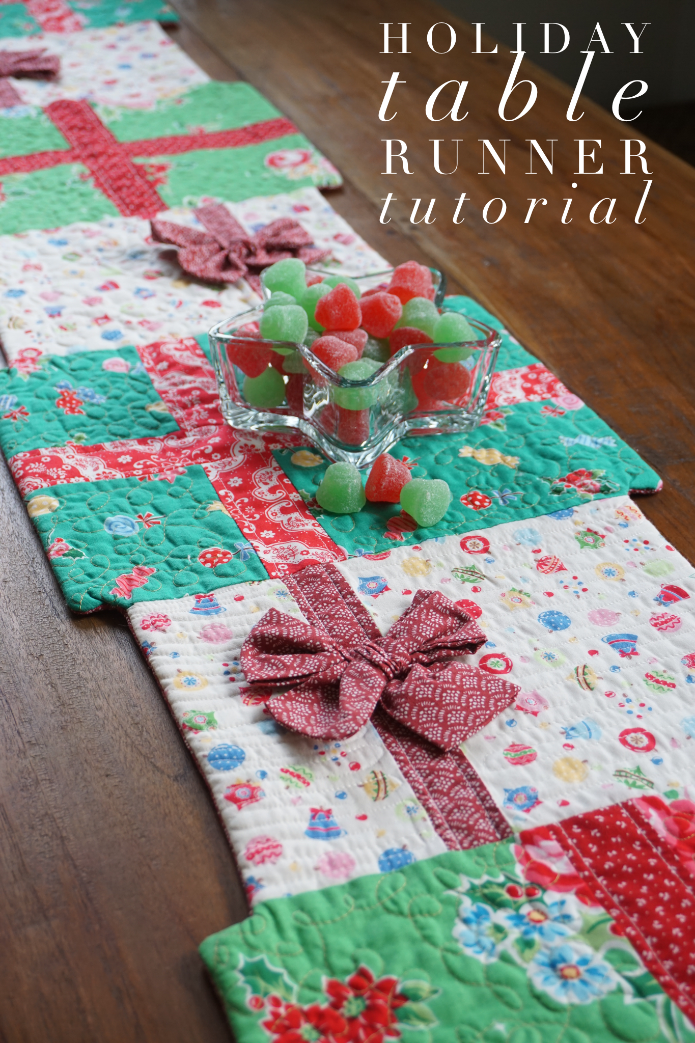 Holiday Table Runner Tutorial Holiday Table Runner Table Runner Tutorial Christmas Table Runner