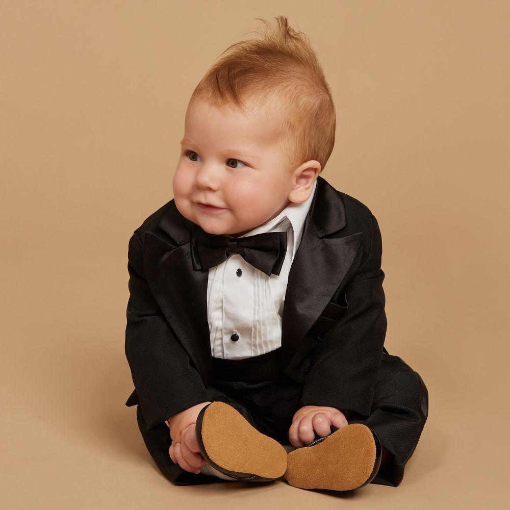 2a3c55a876d81 Beau KiD - Boys 5 Piece Black Tuxedo Suit     LOOKBOOK GIRLS BOYS ...