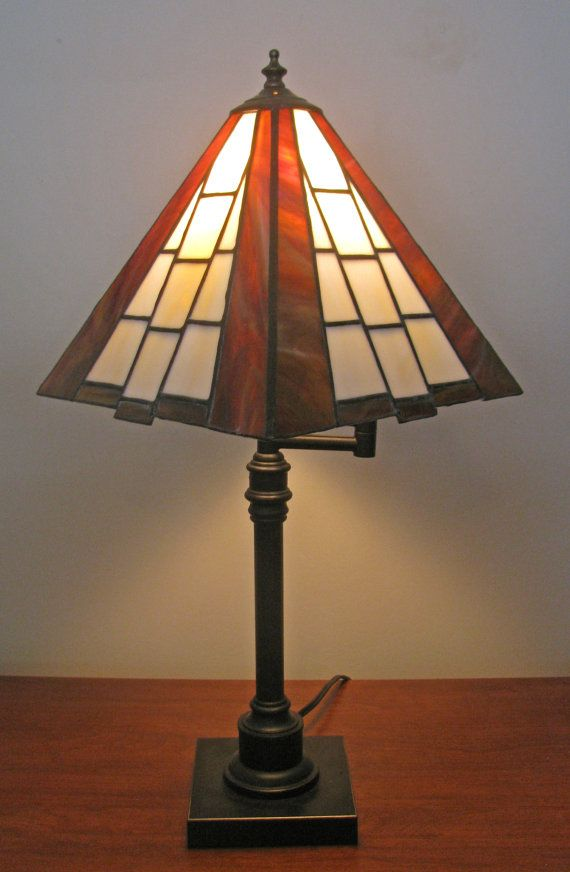 Geometric Stained Glass Lamp Shade by ColorBetweenTheLines on Etsy, $150.00