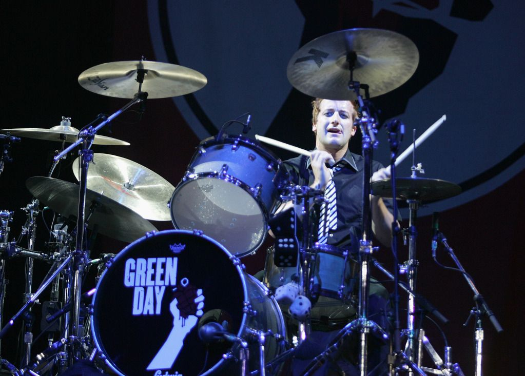 Tre Cool Green Day Drummer Music And Things Green Day Cool