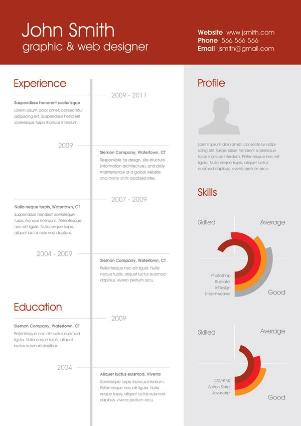 Free Clean OnePage Resume By Atma Via Behance  Graphic Design