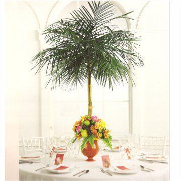 Palm Tree Centerpiece Very Unique For A Tropical Theme