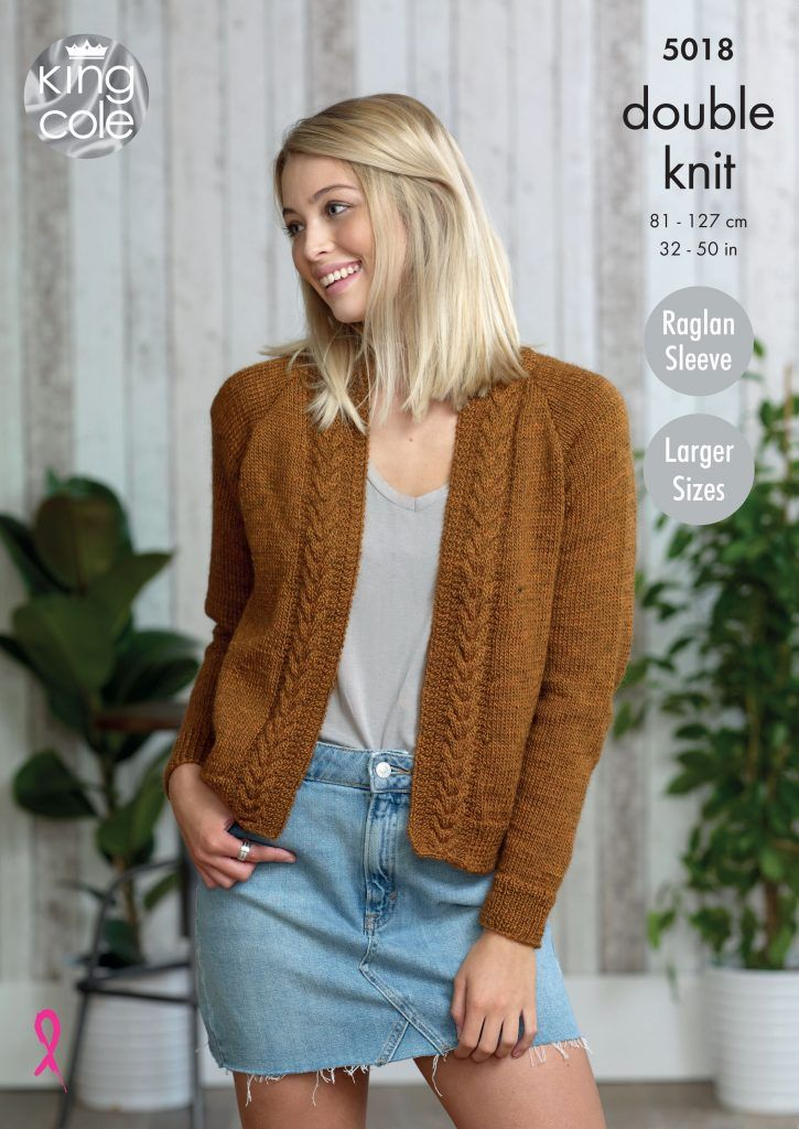 Ladies Cardigans Knitted in Panache DK - King Cole | Easy ...