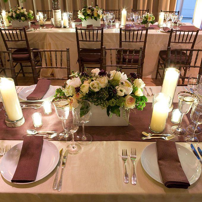 Outdoor November Wedding Flowers: Modern Fall Wedding Centerpiece
